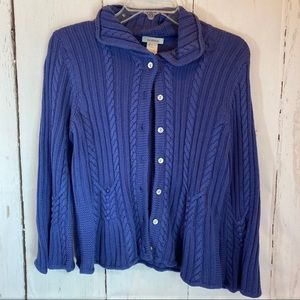 Sundance Small Blue  cable cardigan